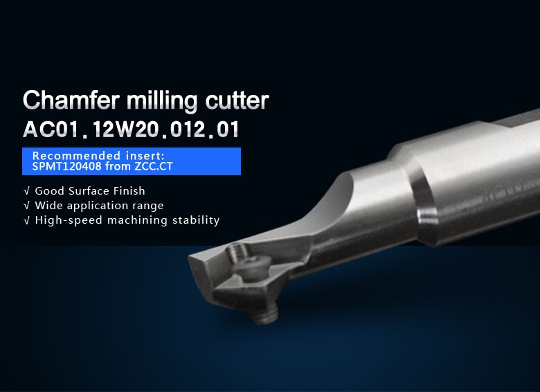 high quality CMA01-012-XP20-SP12-01, AC01.12W20.012.01 chamfer milling tools for  inserts SPMT120408<br>
