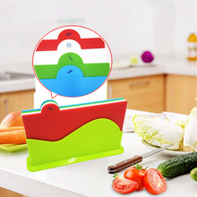 4PCS Set Plastic BPA Free FDA approved colorful Kitchen Cutting Board Chopping Blocks For Free Shipping(China)