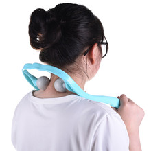 U-clip roller ball squishes scalp neck massager stress pain relief exercise tens pad massage stick gua sha tools health products(China)