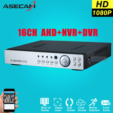 Super 16CH AHD DVR AHDH HD Full 1080P digital Video Recorder H.264 CCTV Camera Onvif Network 16 Channel IP NVR Multilanguage - ASECAM Store store