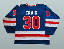 Blue Ice Hockey Jersey Vintage 1980 Miracle On Ice Team USA Jim Craig 30 Hockey Jersey Winter Sport Wear Wholesale Dropship