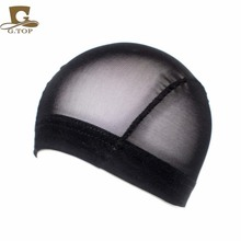 thick wide band Mesh Dome Style Wig Cap breathable perfect fit black