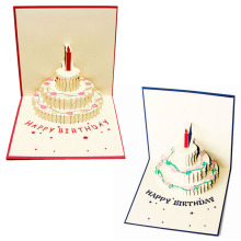 3D Pop Up Greeting Card Handmade Happy Birthday Cake Day Thank You Postcard-Y102(China)