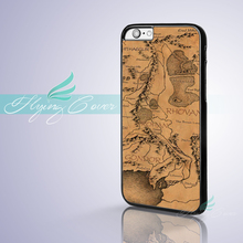 Coque LORD OF THE RINGS World Map Phone Cases for iPhone X 8 8Plus 7 6 6S 7 Plus SE 5S 5C 5 4S 4 Case for iPod Touch 6 5 Cover.(China)