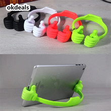 Hot Selling Adjustable Thumbs Stand Car Desktop Holder Mount For Phone Pad Tablet PC(China)