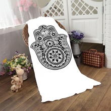 Superfine Mandala Black Flower Floral Paisley Hand Bath Beach Towel Sports Towel Home Hotel Bathroom Drying Washcloth