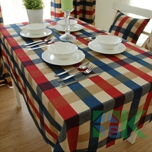 Rustic 100% fashion cotton square table cloth modern brief plaid tablecloth cloth dining table cloth table high quality(China)