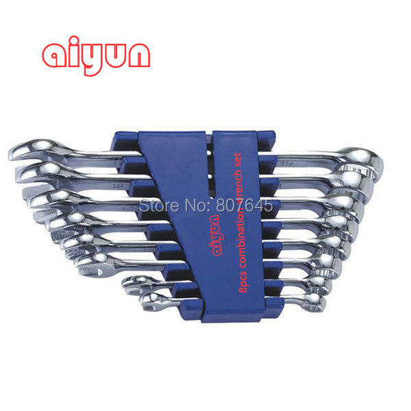 8pcs/set  combination Wrench set (Metric)  combination spanner set<br>