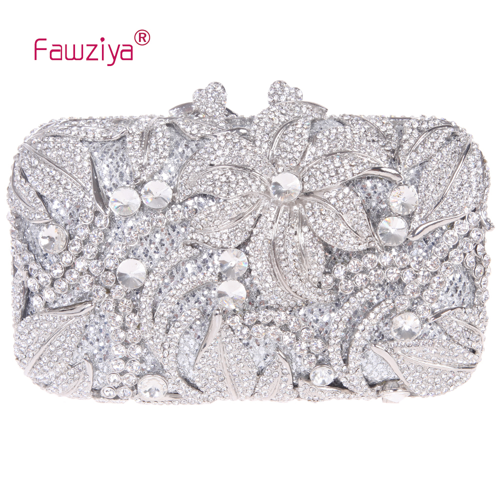 Fawziya Wedding Clutches For Brides Diamond Lilies Flower Purse Evening Handbags And Clutches<br><br>Aliexpress