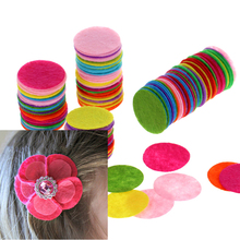 200PCS 2.5CM DIY Eco-friendly Round Felt Fabric Pads Home Decor Accessory Patches Circle Felt Pads Fabric Flower Accessories