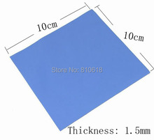 100mm*100mm*1.5mm Thermal Pad  high quality GPU CPU Heatsink Cooling Conductive Silicone Pad