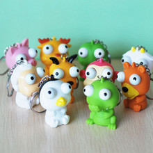Cute Small Squeeze Antistress Toy Pop Out Eyes Doll Novelty Stress Relief Venting Keychain Joking Decompression Funny Toys