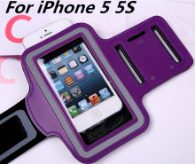 HOT Waterproof Genernal Style PU Leather Case   5g Running Arm Band For iphone5 Cell Phone Cases
