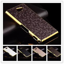 Funda for Sony Xperia M2 Aqua Case Football Style Gold-plated Frame Cover For Sony Xperia M2 Case PC Hard Luxury Phone Cases