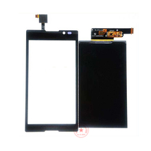 Best Working Black White Touch Screen Digitizer Glass Sensor+LCD Display For Sony Xperia C S39H S39 C2304 C2305 Panel Parts