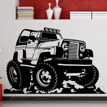 Removable Truck Car Wall Stickers For Kids Room Decor Art PVC Wall Decals Cartoon Self Adhesive