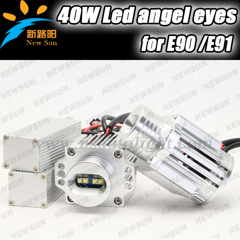 Decorate headlight for BMW E91 40W LED Marker Angel Eyes Kit Xenon White LED cree chip For E90 E91 wholesale free shipping<br><br>Aliexpress