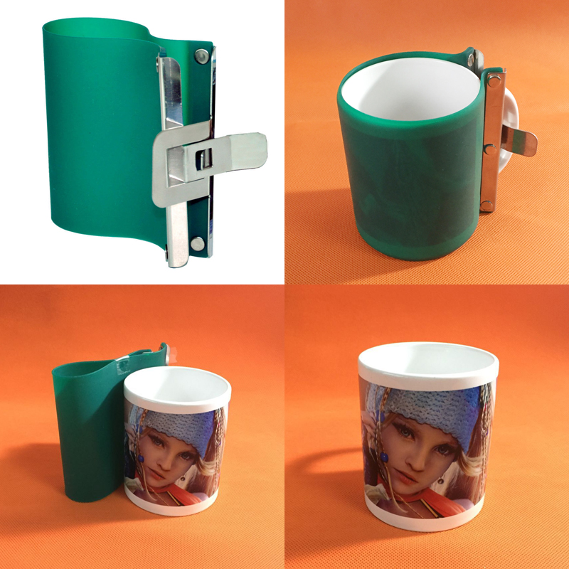 5pcs/lot heat press machine consumables Sublimation Silicone Mug Wraps For 3D Sublimation Vacuum Transfer Machine using
