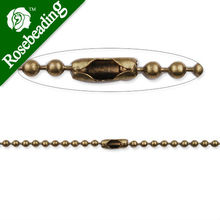 2.4mm diameter Ball Chain Connector, 24inch long Antique Bronze plated Copper Ball Chain Necklaces;receive as a finished chain