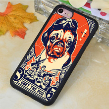 Pug Cute Obey Pet Dog Printed Soft Rubber Mobile Phone Case For iPhone 6 6S Plus 7 7 Plus 5 5S 5C SE 4 4S Back Cover Shell