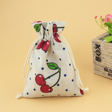 (50 pieces/lot) Cotton Drawstring Bag Cotton Pouch/Product Packaging/Jewelry Pouch Can Custom Logo/Size Print 10x14cm