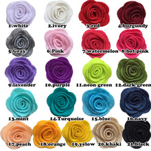 NEW 21Colors 1.5inch Fashion non-woven fabrics felt rose flower Diy for hair accessories headband ornaments 10pcs