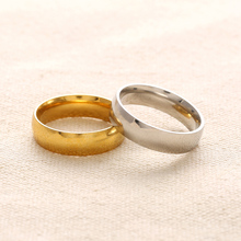 Charm Gold-Color Ring For Men Women Wedding Bands Rings For Lovers' Gift Couple Ring(China)