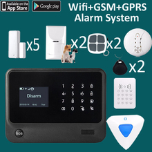 Anti theft house security alarm system 96 zones best home guard alarm wifi GPRS GSM
