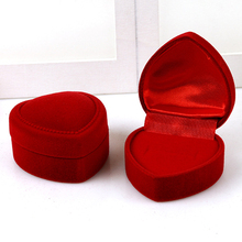 10pcs/lot Love Heart Design Wedding Ring Box Velvet Cloth Gift Boxes Jewelry Display Earrings Necklace Display Accessories #04(China)