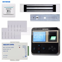 DIYSECUR Fingerprint 125KHz ID Card Reader 180kg Magnetic Lock Door Access Control System Kit(China)