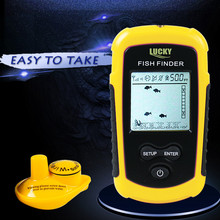 Lucky Portable Wireless Fish Finder 40m Depth Sonar Sounder Alarm Transducer Fishfinder with Colorful Display FF-1108