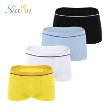 4-Pack Cotton Boys Underwear Pure Color Kids Shorts Panties for Children Boys Boxer Baby Clothing Teenager Underpant 3-12 T
