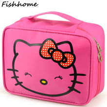 Hello Kitty Woman Cosmetic Bag Large Beauty Waterproof Professional Wash Necessaire Travel Toiletry Organizer Make up Bags LTS08