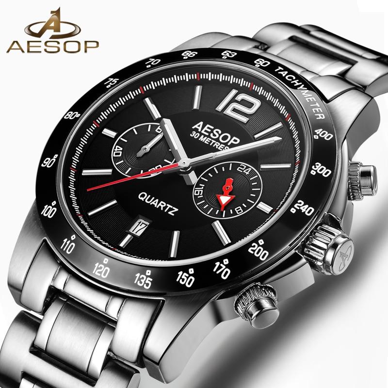 AESOP Fashion Men Watch Men Sapphire Crystal Quartz Wrist Wristwatch Chinese Waterproof Male Clock Relogio Masculino 2018 New 46<br>