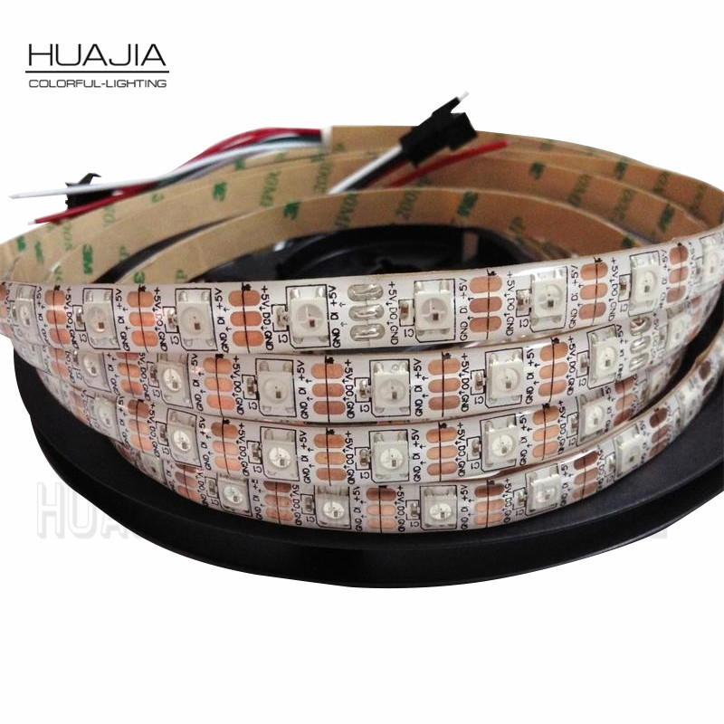 1M/2M/5M WS2812B 5V RGB Addressable LED Strip Black&White PCB 30/60/144 leds/m 2811 IC Built-in 5050LED IP30/IP65/IP67 Pixels(Hong Kong)