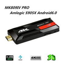 MK809IV 4K Mini Pc Android 6.0 Amlogic S905X VP9 HDR H.265 64BIT 8GB TV Stick Kodi 16.0 Preinstalled Miracast DLNA AirPlay(China)