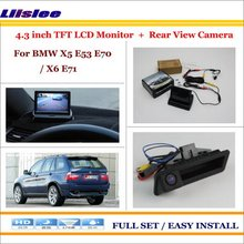 "Liislee For BMW X5 E53 E70 / X6 E71 In Car 4.3"" Color LCD Monitor + Car Rear Back Up Camera = 2 in 1 Park Parking System(China)"