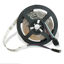 Discount 5M 300Leds Non-waterproof 3528 RGB Led Strip Lights DC 12V 60Leds/M Flexible ribbon led Lighting Home Decoration Lamp(China)