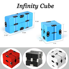 New Arrival Infinity Cube Mini Creative Puzzle Blocks Anti Anxiety Stress Funny Spinners Finger Magic Cube Learning Toys For Kid