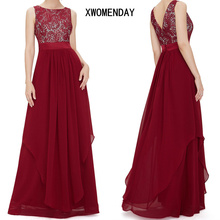 Buy Women Summer Sexy Backless Lace party Long Dress Sleeveless Red Black Maxi Dress 2018 Ladies Elegant Party Dresses Plus Size 2Xl for $14.44 in AliExpress store
