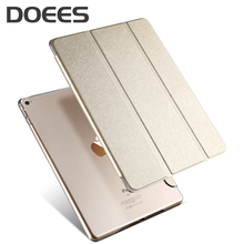 DOEES Leather Cover For Apple Air 2 9.7 Tablet PC Case Smart Accessories Luxury Case For Apple Pad Air 2 Case Shockproof Stand