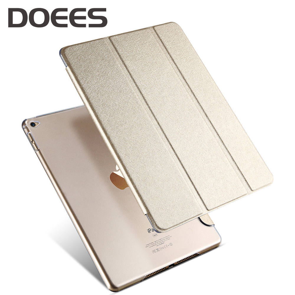 DOEES Leather Cover For Apple Air 2 9.7 Tablet PC Case Smart Accessories Luxury Case For Apple Pad Air 2 Case Shockproof Stand(China)