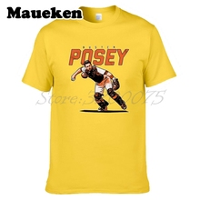 Men San Francisco 28 Buster Posey T-shirt Tees Short Sleeve T SHIRT Men's Giants Fashion MVP W1208002(China)