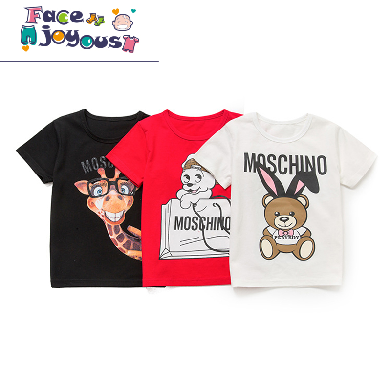 Boys Summer Clothes Children T Shirts 2018 Brand Tee Shirt Girls Cotton Tops Kids Clothing Animal Pattern Baby Kids T-shirts