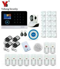 Yobang Security App Control WIFI 3G Home Burglar Alarm Security System With SOS Button IP Camera Wireless Siren Panic Alarm Kits(China)