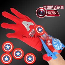2017 Newest Captain America Figure Cartoon Anime The Avengers Captain America Glove Emitter Cosplay Creative Boys Toys Gifts