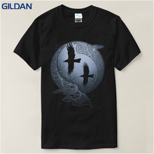 T Shirt Summer Vikings TV Series Odin's Raven Ragnar Lodbrok White Summer sportwear casual t-shirt(China)
