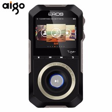 Aigo HiFi Portable MP3 Audio Player Metal Case Wooden Back Android System 16GB Memory Enthusiast Lossless Music Player(China)