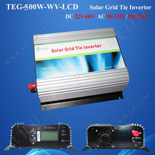 Pure sine wave DC 22-60v 500w solar inverter on grid with lcd