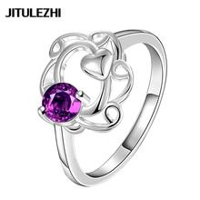 Women's silver plated zircon finger ring fashion jewelry anel feminino Super Offer Classic lose money wedding ring set zircon